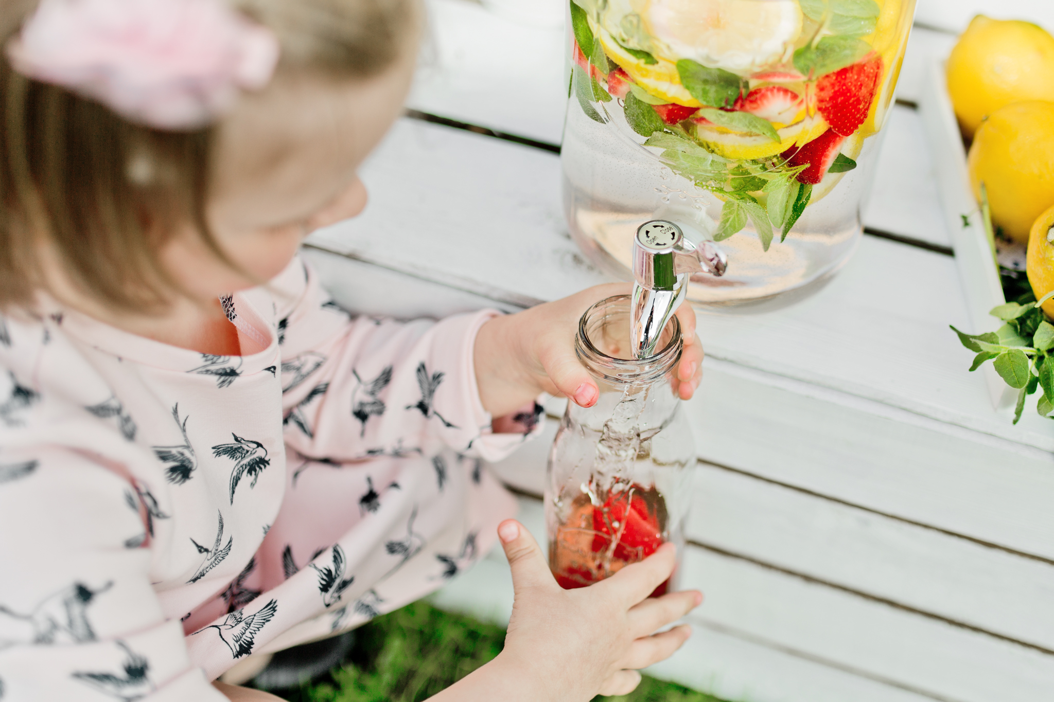 4 L Edel Getränkespender mit Hahn Glas Landhaus Dispenser Getränke ...
